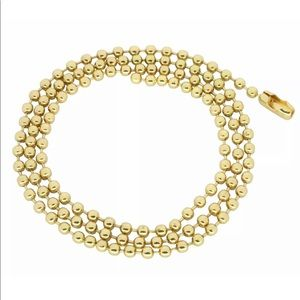 Jewelry - 14k Gold Finish Ball Chain multiple sizes